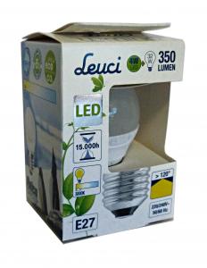 LEUCI Lamp.a led sfera e27 4w = 32w art.555244 - Lampade e materiale elettrico