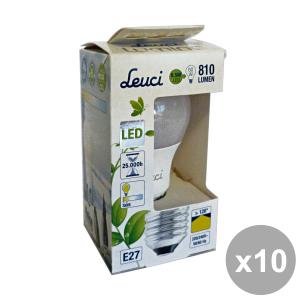 Set 10 LEUCI Glühbirne LED Tropfen 8.5W E27 = 60 m ART.555215 Elektrizität
