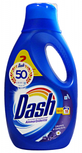 DASH Lavatrice Liquido 16+2 Misurini Con Ammorbidente Lavanda-Camomilla