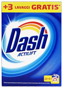 DASH Detersivo lavatrice polvere 22+3 lavaggi classico