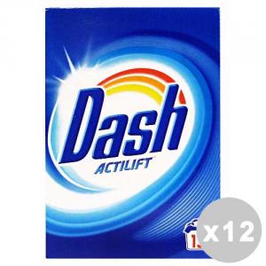 DASH Set 12 DASH Detersivo lavatrice polvere 15 lavaggi classico