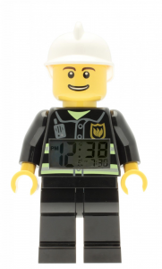 LEGO® Horloge de table réveil CITY FIREMAN FIG CLOCK