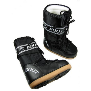 MYSNOW Doposci Boot Junior Nero (Taglie 32-33-34) Neve Caldi Comodi Imbottiti