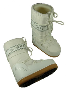 MYSNOW Snow Boots Junior White (Sizes 32-33-34) Snow Warm Comfortable Upholstered