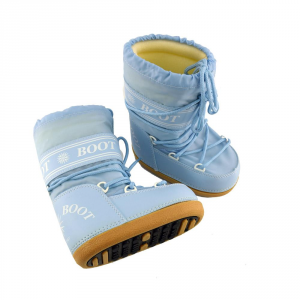 MYSNOW Doposci Boot Junior Azzurro (Taglie 32-33-34) Neve Caldi Comodi Imbottiti