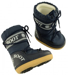 MYSNOW Snow Boots Junior Blue (Sizes 32-33-34) Snow Warm Comfortable Upholstered