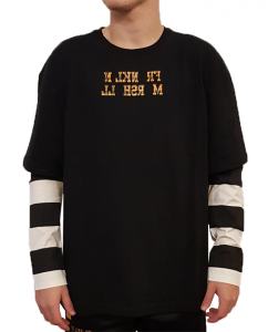 T-shirt manica lunga in cotone Sfera Ebbasta