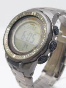 Orologio Casio Uomo PRO-TREK PRW-3000T-7ER con Altimetro barometro bussola termometro in titanio. vendita on line | OROLOGERIA BRUNI Imperia