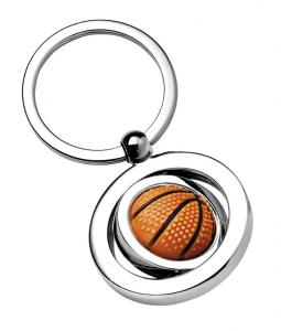 Portachiavi pallone da Basket pallacanestro cm.7x3,5x1h