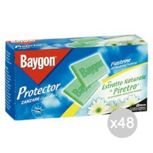 'Set 48 BAYGON 30 Piastrine Zanzare Repellente Insetticida'
