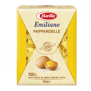 BARILLA Emiliane Pappardelle All'Uovo 500 Grammi Pasta Made In Italy