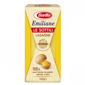 BARILLA Emiliane Le Sottili Lasagne All'Uovo 500 Grammi Pasta Made In Italy