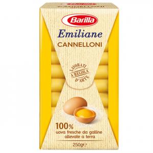 BARILLA Emiliane Cannelloni Egg 250 Gramm Pasta Made In Italy