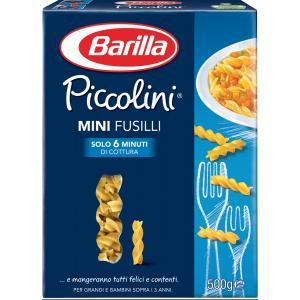 BARILLA Piccolini Mini Fusilli 500 Gramm Pasta Made In Italy