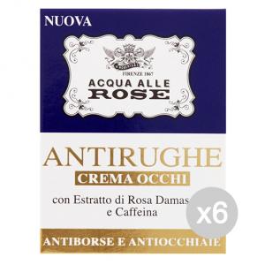 Set 6 ACQUA ROSE Crema Occhi Acqua Di Rose 15 Ml Cura Del Viso
