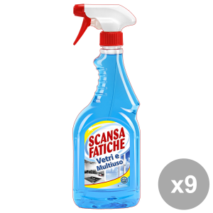 Set 9 SCANSA FATICHE Vetri Multiuso TRIGGER 750 Ml. Detergenti casa