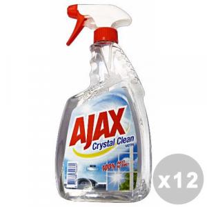 AJAX Set 12 AJAX Detergente vetri crystal clean trigger 750 ml.