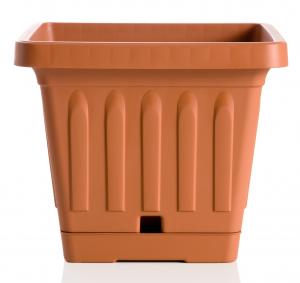 Vaso Quadrato 40 Cm Terracotta Terra Articolo 30402 Prodotto Per Piante E Fiori