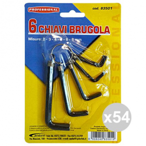 Set 54 CANTINI Key BRUGOLA X 10 Pieces Article 83501 Accessories For the House