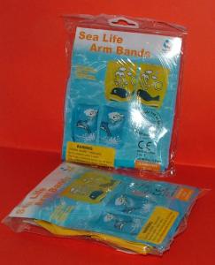 Braccioli gonfiabili 25x15 cm delfino/balena - Accessorio per la casa