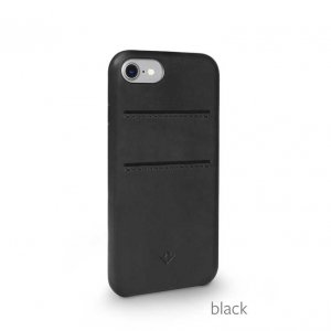 TWELVE SOUTH Cover in pelle morbida con tasche per iPhone 7, 8 - Nero