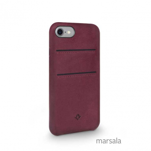 TWELVE SOUTH Cover in pelle morbida con tasche per iPhone 7, 8 - Marsala