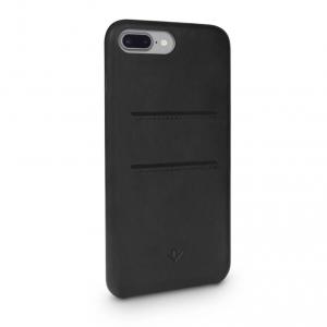 TWELVE SOUTH Cover in pelle morbida con tasche per iPhone 7 Plus, 8 Plus - Nero