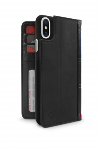 TWELVE SOUTH BookBook cover in pelle per iPhone X - Nero