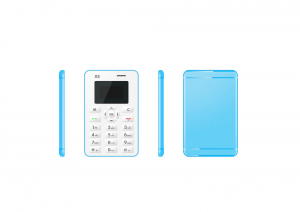 i-INN Credit Phone Blue Bluetooth Radio Fm Smartphone Telefono Cellulare