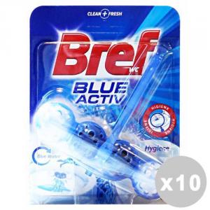 BREF Set 10 BREF Tavoletta wc blue active palline
