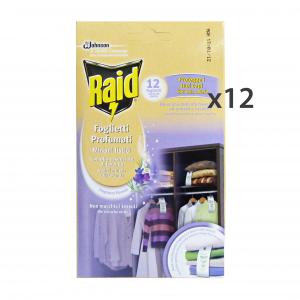 RAID Set  12 Tarmicida Foglietti X 12 Pezzi Articoli Per Insetti