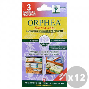 Set 12 ORPHEA Tarmicida Sacchetti Misto 4 Pezzi  Articoli per insetti