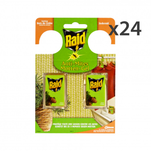 RAID Set 24 Tarmicide Cedro 2 Pieces Articles For Insects