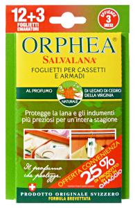 ORPHEA Tarmicida Legni Cedro 12+3 Pezzi  Tarmicidi