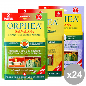 ORPHEA Set 24 Tarmicide 2 Cialde Wardrobes Mixed Articles For Insects