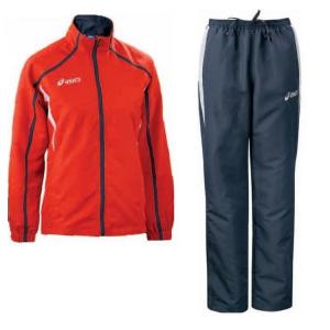ASICS Tuta sportiva donna giacca + pantaloni PRETTY rosso blu T817Z5