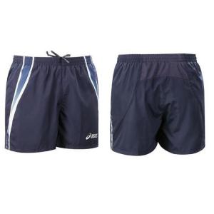 ASICS Shorts pantaloncini atletica running uomo MEDAL blu navy T688Z6 #