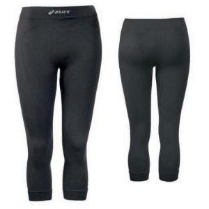 ASICS Pantaloni 3/4 invernali intimo sportivo donna termici NORDIC nero T632ZN