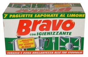 BRAVO PAGLIETTE SAPONATE X 7 Pezzi Attrezzi Pulizie