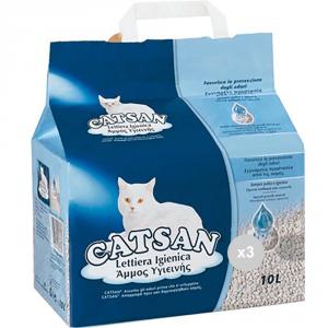 Set 3 CATSAN 10 toilettes soins pour animaux de compagnie de chats de litière