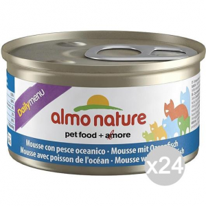 Set 24 ALMO NATURE Cat Can Gr 152 85 Ocea.Mouss Fish Food For Cats