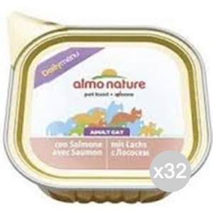Set 32 ALMO NATURE Cat 352 Tank Gr 100 Sne Daily Food For Cats
