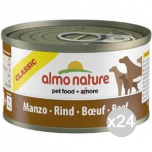 Set 24 ALMO NATURE Cane 5544 Lattina 95 Manzo Alimento Per Cani