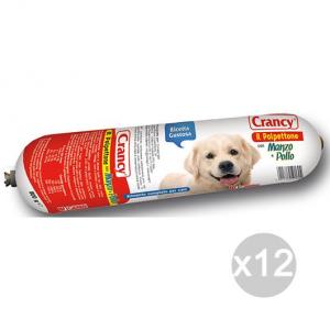 Set 12 CRANCY Cane Salamotto Manzo/Pollo 800Gr Alimento Per Cani