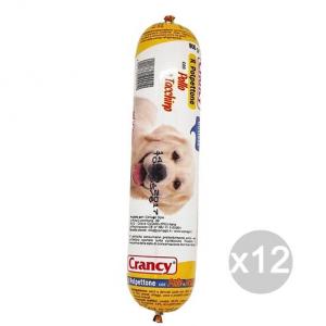 Set 12 CRANCY Cane Salamotto Pollo/Tacchino 800Gr Alimento Per Cani