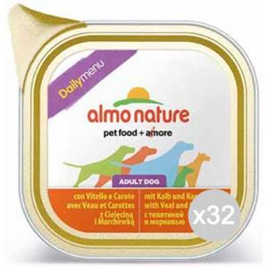 Set 32 ALMO NATURE Hundenapf 222 100 Veal Menü Täglich Nahrung Für Hunde