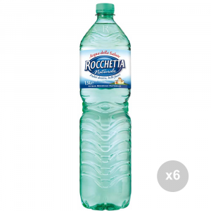 Set 6 ROCCHETTA Natural water lt 1. 5 soft drink
