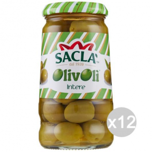 Set 12 SACLA' Olive Green Gr300 Whole Foods And Canned Food