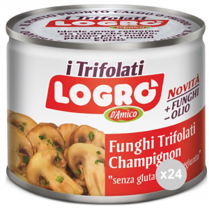 Set 24 LOGRO Mushrooms sautéed seasoning cans