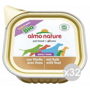 Set 32 ALMO NATURE Hundenapf 245 100 Pate Bio Veal Futter Für Hunde